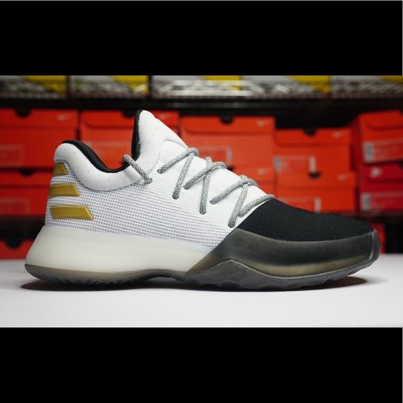 6623300db65e Adidas James Harden Vol 1 White Black Gold